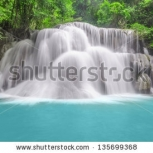 Stock Photo Huay Mae Khamin Three Level Kanchanaburi Provinc