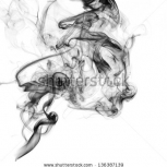 Stock Photo Black Smoke On A White Background 136387139